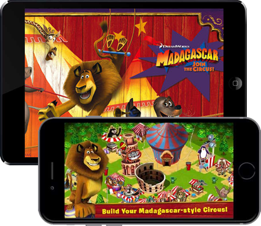Madagascar - Join the Circus - Social simulation Mobile Game Development - [x]cube LABS